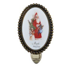 "3.5"" W Christmas For The Love Of Santa Fused Oval Night Light"