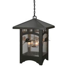"26"" Sq Lone Pine Lantern Pendant"