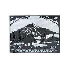 "49"" W X 36"" H Bear Creek Fireplace Screen"