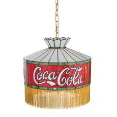 "16"" W Coca-Cola Fringed Pendant"
