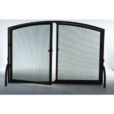 """50"""" W X 33"""" H Prime Operable Door Arched Fireplace Screen"""