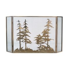 "60"" W X 34"" H Tall Pines Fireplace Screen"