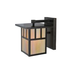 """9"""" W Hyde Park Double Bar Mission Solid Mount Wall Sconce"""