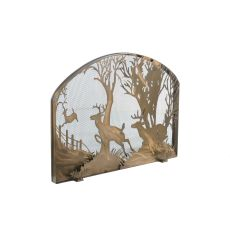 """39.5"""" W X 30"""" H Deer On The Loose Arched Fireplace Screen"""