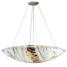 "30"" W Ramoscelli Fused Glass Inverted Pendant"