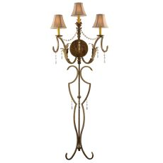 "20"" W Old Broadway 3 Lt Wall Sconce"