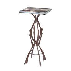 "19.75"" Sq X 42.5"" H Marina Fused Glass Table"