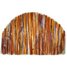 """32"""" W X 22"""" H Marina Sun Fused Glass Wall Art"""
