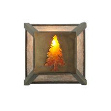 "7"" Sq Tall Pine Wall Sconce"