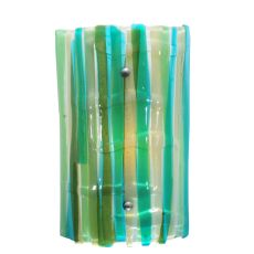 "9"" W La Spiaggia Fused Glass Wall Sconce"