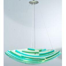 """30"""" W Metro Fusion La Spiaggia Glass Inverted Pendant"""