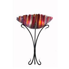 "18"" W Lava Fused Glass Wall Sconce"