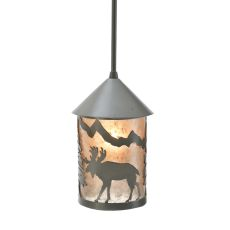 "6"" W Lone Moose Lantern Mini Pendant"