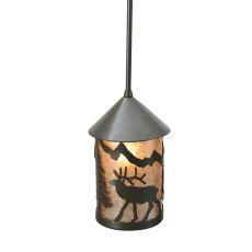 "6"" W Lone Elk Lantern Mini Pendant"