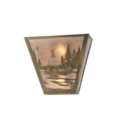"13"" W Fly Fishing Creek W/Dog Wall Sconce"