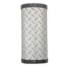 """6"""" W Diamond Turbine Wall Sconce"""