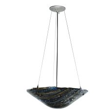 """18"""" W Metro Fusion Cielo Di Notte Glass Inverted Pendant"""