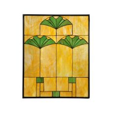 "20"" W X 25"" H Ginko Stained Glass Window"