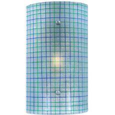 """9"""" W Metro Strisce Glass Wall Sconce"""