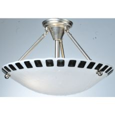 """18"""" W Metro Fusion Enduro Glass Semi-Flushmount"""