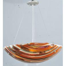 "24"" W Metro Fusion Marina Glass Inverted Pendant"