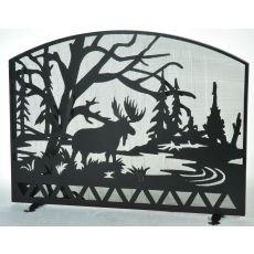 "54"" W X 42"" H Moose Creek Fireplace Screen"