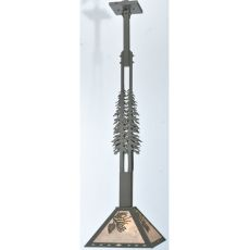 "12"" Sq Winter Pine Tall Pines Pendant"