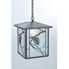 "12"" Sq Whispering Pines Lantern Pendant"