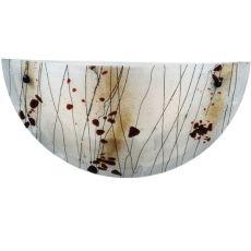 "18"" W Metro Fusion Ramoscelli Glass Wall Sconce"