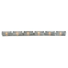 "73"" W Metro Fusion Branches 6 Lt Glass Vanity Light"