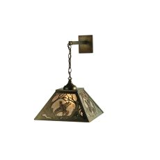 """15.5"""" W Ruffed Grouse Hanging Wall Sconce"""