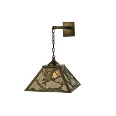"""15.5"""" W Strike Of The Eagle Hanging Wall Sconce"""