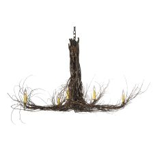 "48"" L Twigs 6 Lt Chandelier"