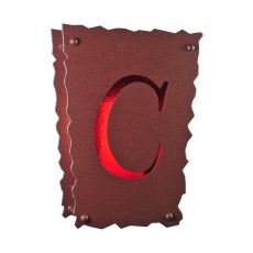 """12"""" W Personalized """" C""""  Wall Sconce"""