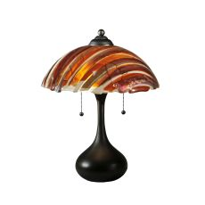"21"" H Metro Fusion Marina Glass Table Lamp"