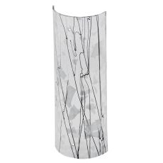 """5"""" W X 14"""" H Metro Fusion Branches Glass Cylinder Shade"""