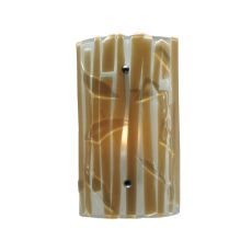 "9"" W Metro Fusion Bambu Glass Wall Sconce"