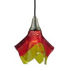"9"" W Metro Fusion Stratos Solare Handkerchief Glass Mini Pendant"