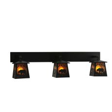 "48"" W Bear At Dawn 3 Lt Wall Sconce"
