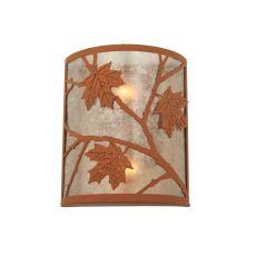 "10"" W Maple Leaf Wall Sconce"