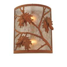 "10"" W Oak Leaf & Acorn Wall Sconce"