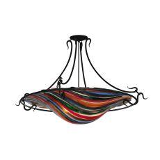 """36"""" W Metro Fusion Colori Del Arcobaleno Glass Semi-Flushmount"""