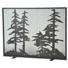 "44"" W X 33"" H Tall Pines Fireplace Screen"
