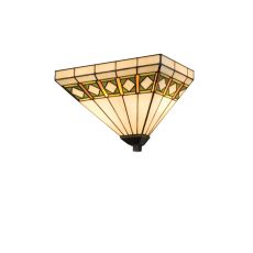 """14"""" W Diamond Band Mission Wall Sconce"""