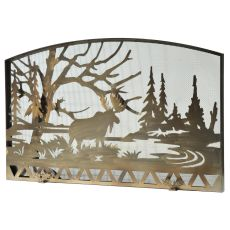 "61"" W X 38"" H Moose Creek Fireplace Screen"