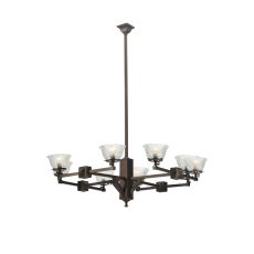 "48"" W Revival Summer Wheat 8 Lt Gas Chandelier"