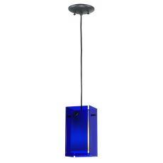 """5"""" Sq Metro Blue Quadrato Mini Pendant"""