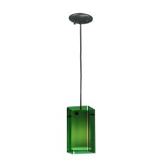 "5"" Sq Metro Green Quadrato Mini Pendant"