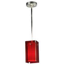 """5"""" Sq Metro Red Quadrato Mini Pendant"""