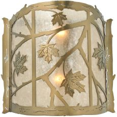 "15"" W Maple Leaf Wall Sconce"